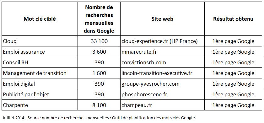Exemples resultats seo olivier corneloup referencement-juillet-2014